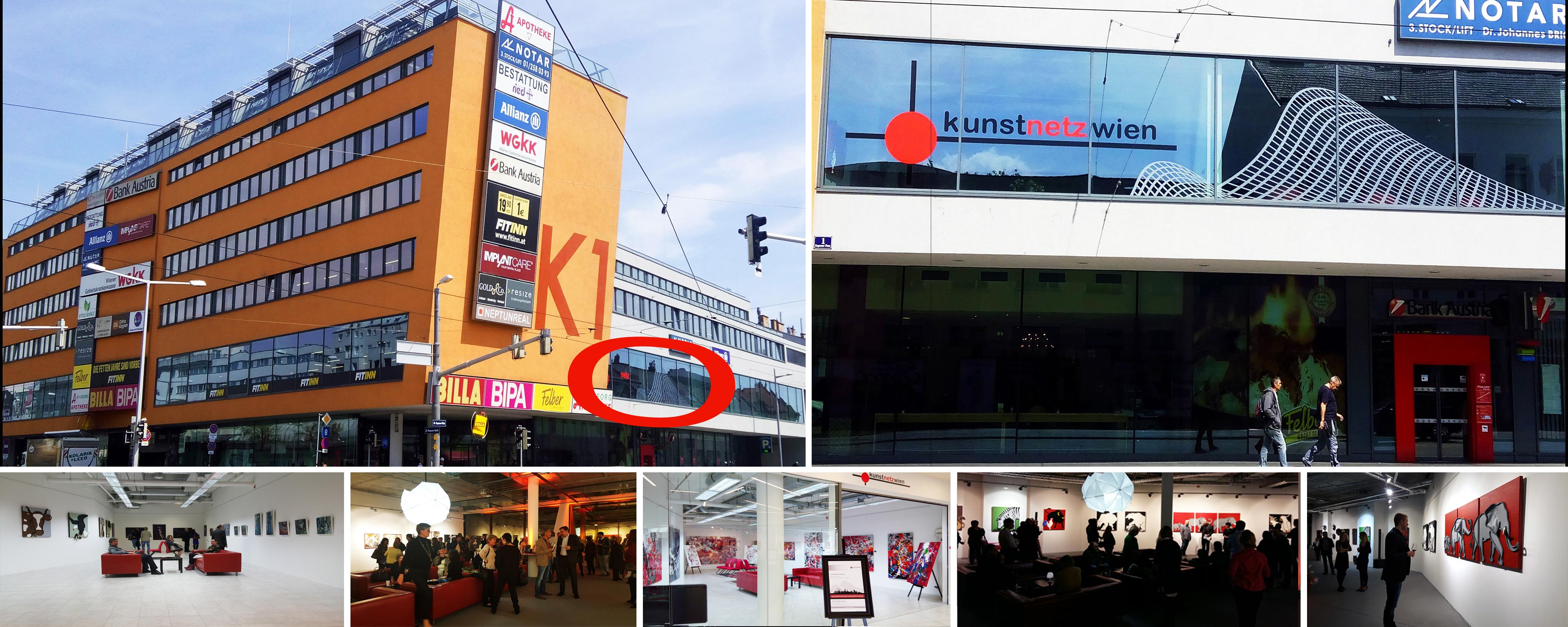 Galerieflächen Kunstnetz Wien mit Loungebereich